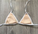 Горизонтальная полоса Sexy линии бикини, купальный костюм, железнодорожной линии бикини и Balck белого цвета