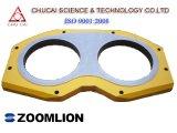 Zoomlion piezas de la bomba de hormigón Placa de desgaste, la placa de gafas