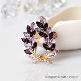최고 급료 도매 수정같은 보석 모조 다이아몬드 꽃 브로치 Pin