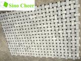 Il nero di marmo bianco italiano delle mattonelle di mosaico di Carrara Basketweave punteggia 1 x 2