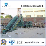 Máquina de empacotamento semi-automática horizontal Hellobaler com transportador