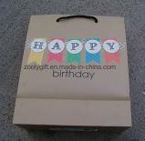 Sacos da embalagem do presente do papel de impressão do presente do feliz aniversario