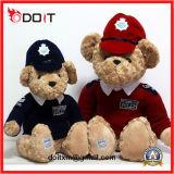 Urso da peluche da roupa do vermelho da coleção do urso da peluche com uniforme do basebol
