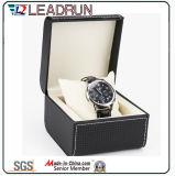 Caja de embalaje de empaquetado de la visualización del regalo del embalaje del reloj del caso del almacenaje del reloj del papel de cuero del terciopelo del rectángulo del reloj de madera (YS193A)