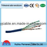 Cable de interior del cable eléctrico UTP de la categoría 6