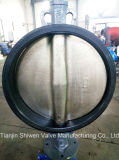 API / JIS / GB Wcb Worm Gear Wafer Butterfly Valve