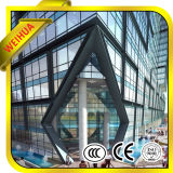 Baixo-e vidro isolado resistente ao calor para a parede do edifício