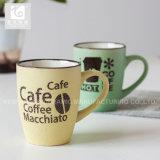 Tasses de café en céramique de forme de tambour buvant des tasses