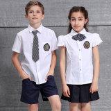 Tee-shirt pour enfants et la jupe uniforme scolaire uniforme de l'école, des chemises blanches