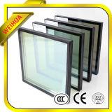 O Baixo-e vidro oco/isolou o vidro com o espaçador preto para Windows isolado edifício