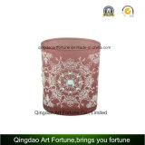 De hete Kaars van het Glas van de Verkoop met Decoratie en Patroon