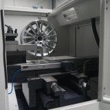 Aluminiumrad, das Felgen-Reparatur CNC-Legierungs-Rad-Maschine Awr28h nacharbeitet