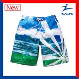Nessun Shorts divertenti della spiaggia degli uomini sublimati tintura di usura di sport di MOQ brevi