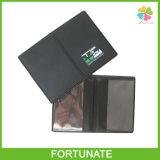 Cartões plásticos de PVC preto Titular de duas camadas titular do cartão bancário
