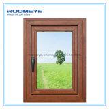 Roomeye 2017 neuer Entwurfs-plattiertes hölzernes Flügelfenster-Aluminiumfenster
