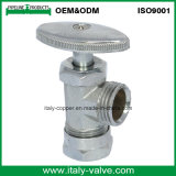 Valvola di angolo placcata ottone di qualità del ODM di OEM& con la maniglia dell'ABS (AV3019)