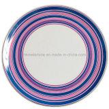 Placa de jantar redonda da melamina com logotipo (PT7248)