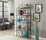 Прочного домашней мебели 5 яруса легких Matel провод Хранилище Полки