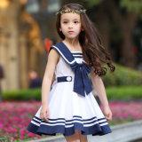 Pinafore pieghettato alla moda su ordinazione delle ragazze del banco primario di disegno dell'uniforme scolastico delle ragazze del vestito