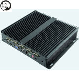 Intel I3 3217u 1.80GHz Dual Core CPU avec 6 COM / 6 USB Thin Client Mini ventilateur sans fil