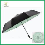 بالجملة شبكة أسود مطّاطة مشمسة خارجيّة [سونسكرين] [سون] حماية [أوف ليغت] ثلاثة يطوي مظلة