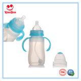 8ounce BPAはハンドルが付いているシリコーンの赤ん坊の挿入びんを放す
