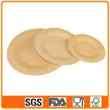 Les plaques de bambou jetable ronde