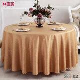 高品質のジャカード赤いテーブルクロス