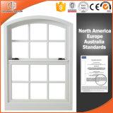 Mejor apariencia de doble ventana de aluminio duradero Hung, Estados Unidos revestido de madera maciza estilo Hung Ventanas de aluminio con doble