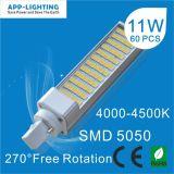 11W G24 LED lâmpadas LED G24 Pl G24 tubo de LED de luz
