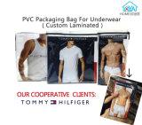 Embalaje personalizada Bolsa para ropa interior de la bolsa de plástico con cierre de cremallera de su logotipo bolsa con cremallera precio de fábrica de PVC