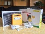 Système d'alimentation solaire à la maison portatif d'éclairage de DEL avec radio fm