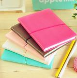 서류상 포켓 및 고무 밴드 노트패드를 가진 다채로운 노트패드