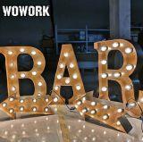 La marquesina de Vegas de la luz del alfabeto con el recinto ferial de fabricación de lámparas de estilo 3D LED frontal iluminado Channel Carta para el Cafe Bar Decoración