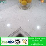 Partie supérieure du comptoir brumeuse veinée pourprée de cuisine de pierre de quartz de silice