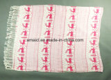 Étole estampée acrylique de modèle personnalisée par couleurs multiples d'écharpe de 100% pour les dames (ABF22004011)