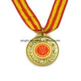 De Medailles van het Metaal van de Kampioen van het gouden Plateren met Lint