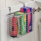 Sobre la cocina del hogar de la cesta de alambre de acero del organizador de la puerta de cabina