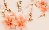 セラミックタイルモデルNo.で印刷される模倣的な救助の彫刻の幸運は咲く花デザイン紫外線と来る: CZ-008