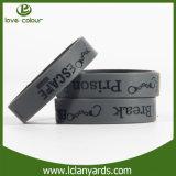 Выдвиженческим изготовленный на заказ напечатанный логосом Wristband эластика браслета силикона