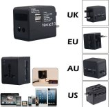 Universal Power Adapter Electric Converter Us / Au / UK / EU World USB Travel Plug