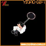 Het Embleem van de douane Leuk met het Glimlachen van Koel pvc Keychain /Keyholder/Sleutelring van het Gezicht (yb-hd-22)