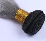 1b/회색 직모 Ombre 브라질 사람의 모발 직물 회색 색깔 Ombre 머리 연장