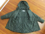 Señoras acolchadas invierno impermeable poliester Parka chaqueta de ropa (IC30)