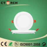 Luz de painel magro super do diodo emissor de luz de Ctorch Dimmable 9W com excitador externo PF>0.9