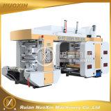 Machine d'impression flexographique d'étiquette en plastique de 6 couleurs