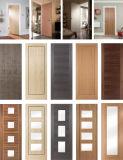 Folheado de madeira de carvalho branco da porta interior composto de MDF