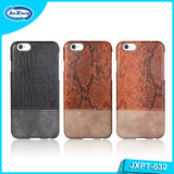 Moda PU Leather Full Cover Slim PC capa de telefone móvel caso para iPhone 6