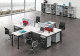 L moderno partición de madera del sitio de trabajo del personal de oficina de la dimensión de una variable