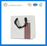 Sac de transporteur de papier de luxe blanc en gros de la Chine (modèle d'OEM)